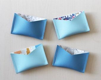 Card holder business etsy blue card holder business card holder vinyl card holder vegan friendly card holder colourmoves