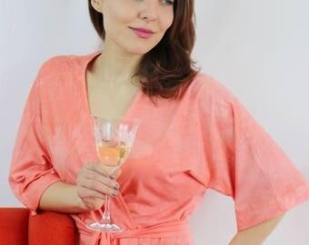 Kimono Dressing Gown - Kimono Robe - Bamboo Gown - Organic Cotton Robe - Morning Gown - Bridal Party Robes - Robe Women's