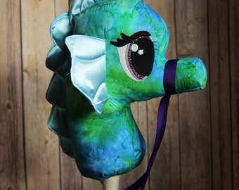 Seahorse Ride on Toy, Stick Seahorse! Stick Animal! Mermaid Toy! Nautical Toy! Ocean Toy, Hobby Horse! Mermaid Birthday Age 3-6 years