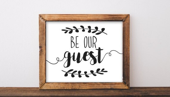 Soft image with regard to be our guest printable