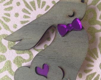 Bunny broochBunny pin,Rabbit brooch,Rabbit Jewellery,Bunny Jewellery,Handmade wooden bunny,Rabbit brooch,pin animal,bunny ,rabbit jewelry