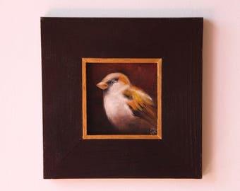 Bird, Original oil painting, Gift, Art, Bird art