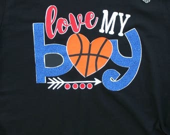 Love my Basketball Boy Shirt, Basketball Shirt, Basketball Mom Shirt, Love My Boy Shirt, Basketball Grandma, Personalized Basketball Shirt