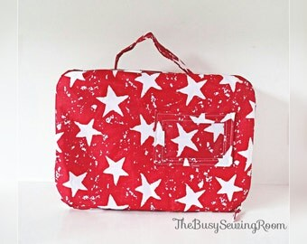 Red Stars Lunch Bag, Insulated Lunch Bag, Kids Lunch Bag, Children's Lunch Bag, Lunch box, Waterproof, Pack-up, Picnic bag, Children's Bag