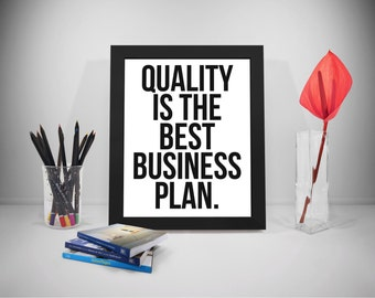 Entrepreneur, Quality Quotes Printable, Business Motivation Quote, Office Print Art, Company Office Decor, Office Decor, Office Art