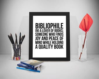 Bibliophile Quotes, Books Poster, Book Print, Book Quote, Reading Print Art, Reader Inspirational Prints, Education Prints Poster