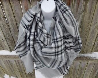 Gray Plaid Blanket