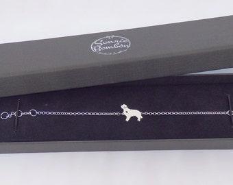Dog breed bracelet silver / Dog breed bracelet necklace / Silhouette dog bracelet / Dog bracelet / Dog silhouette / Sterling silver dog