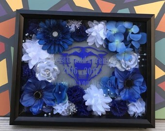 Custom Etched and Filled Shadowbox
