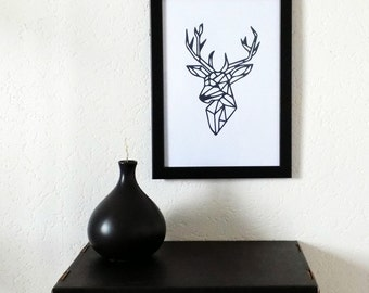 """Printed poster """"Deer"""", wall decoration. Illustrated and created by pretty Mess"""