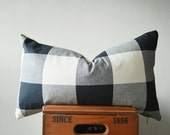 THE EVERETT Buffalo Check Lumbar Pillow Cover