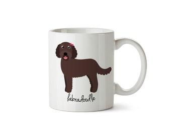 Labradoodle Mug (chocolate - girl)