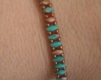 0099-Turquoise Beaded Bangle Original Design