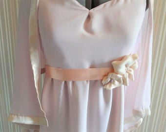 Rose-gold evening/ball/prom/bridesmaid dress with matching shawl