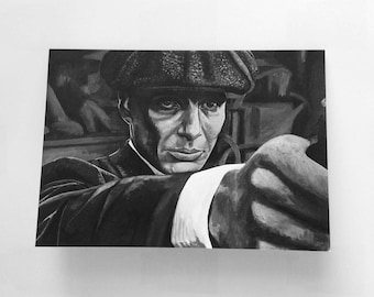 PEAKY BLINDERS greeting card - fine art depicting Cillian Murphy's iconic role - print of 'Thomas Shelby' painting by Stephen Mahoney