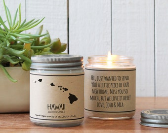 Hawaii Scented Candle - Homesick Gift | Feeling Homesick | State Scented Candle | Moving Gift | College Student Gift | State Candles
