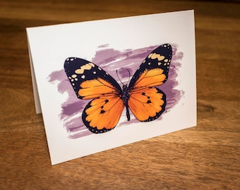 Monarch Butterfly Notecards - Beautiful Butterfly Stationery - Set of Blank Cards