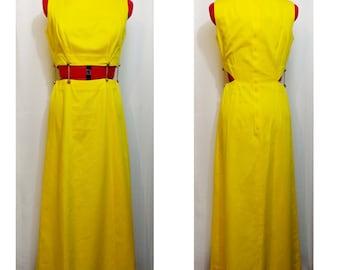 Waltah Clarke's Hawaiian Shop Yellow Cutout Dress