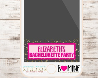 PINK AND GOLD, Snapchat Filter, Bachelorette Snapchat, Bachelorette Snapchat Geofilter, Glitter, Birthday Party Filter