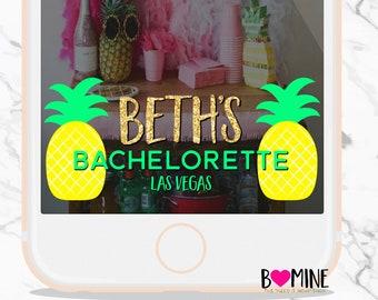 CUSTOM SNAPCHAT GEOFILTER, Pineapple Snapchat Filter, Pinapple Party, Birthday Snapchat Filter, Bachelorette Snapchat Filter, Pineapple