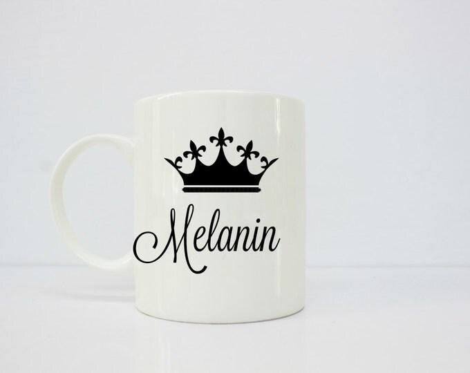 Melanin mug - melanin poppin - melanin - latina art- brown girl - afrolatina - latinx - latina