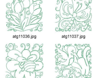 Spring-Lineart ( 12 Machine Embroidery Designs from ATW ) XYZ17C