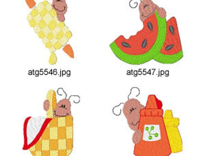 Picnic-Ants-II ( 8 Machine Embroidery Designs from ATW ) XYZ17D