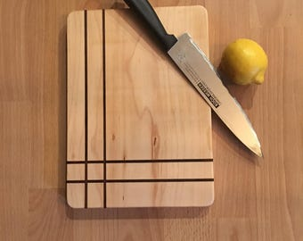 Exotic Hardwood Cutting Board - Walnut and Maple