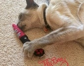Catnip Toy Bloody Plush Knife -Halloween Small Pet Toy Knife with Bloody Paw Print - Dexter inspired  Cat Toy - Gift for Cats and Cat Lovers