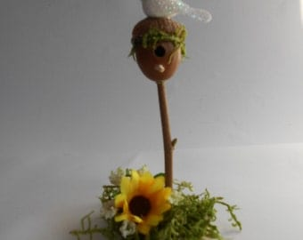 Fairy Birdhouse, Miniature Birdhouse, Fairy Accent, Birdhouse,  Handmade Birdhouse, Fairy Garden, Fairies, Stocking Filler, Dollhouse,