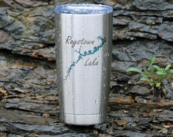 Raystown Lake Engraved Stainless Steel Insulated Tumbler