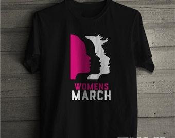Women's March T-shirt , Million Womens March, Womens March on Washington Shirt, Unisex Stlye Cotton