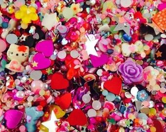 1/2 Oz. Premium Glitter Embellishment Baggie Kawaii Nail Art Decoden Resin Cell Phone Deco Assortment Craft DIY