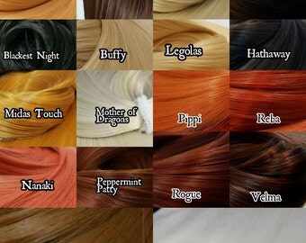18 Natural Color Variety Pack Nylon Doll Hair for Rerooting Barbie, Monster High, Ever After, Rehair MLP INTL SHIP