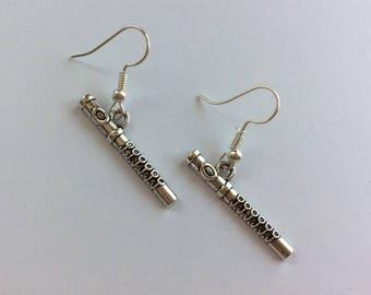 Cute flute , whistle earrings , flute jewellery , music lover , whistle jewelery , cute , kawaii earrings