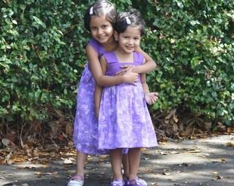 Matching Sister Dress, Girls Summer Dress, Matching Sister outfit, Girls Cotton Dress, Girls Rapunzel Dress