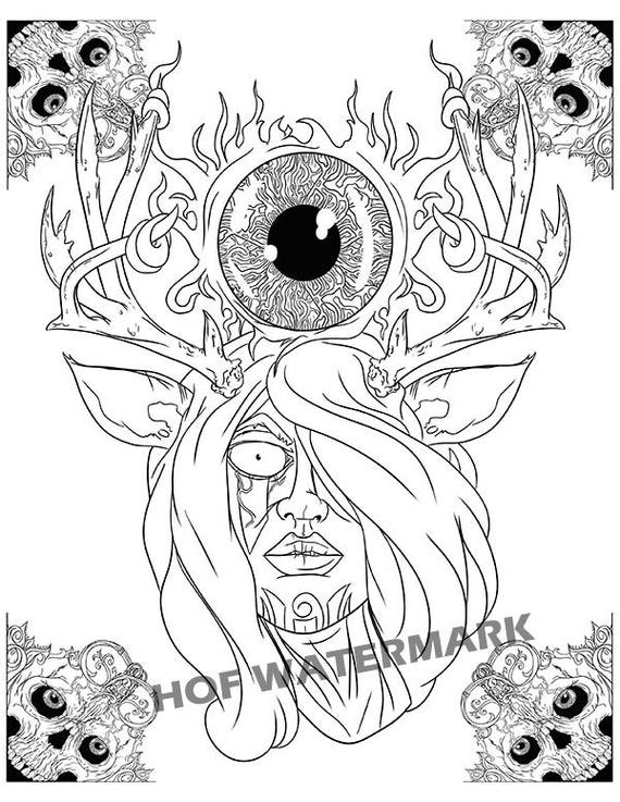 Halloween Coloring Pages Skulls. Sugar Skull Coloring Coloringbook Color Page To  Print Zentangle Download Pages Adult Book Drawing Illustration Archives 2 of 33 My Skulls
