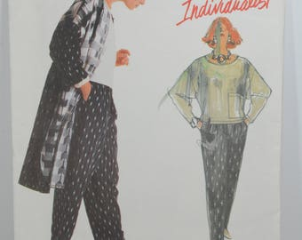 Vintage Vogue Sewing Pattern Individualist Carol Horn 1907 Size 12 Coat Pants Top Pattern 1987 UNCUT