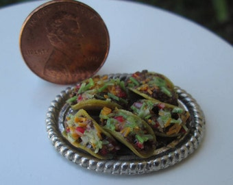 Dollhouse Miniature Taco Platter