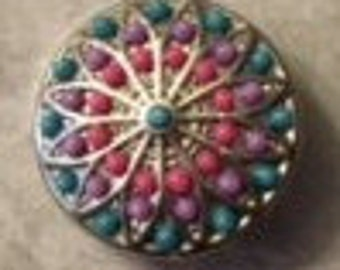 Colorful Beaded 20mm Interchangeable Snap - Great Color and Quality