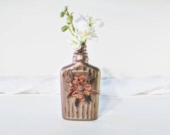 Handmade vintage bud vase/ Vintage vase/ Upcyled bud vase/ Bud vase/ Distressed bud vase/ Rustic vase/ Rustic bud vase