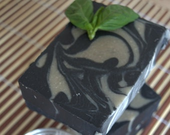 Charcoal Bentonite Clay Soap, Handmade Goat Milk Soap, All Natural, Homemade Detox soap for face, Charcoal Soap, Clay Soap, Black Soap