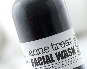 ACNE TREAT Facial Wash with Activated Charcoal & Propolis ~ Formulated for effective Anti Acne treatment.