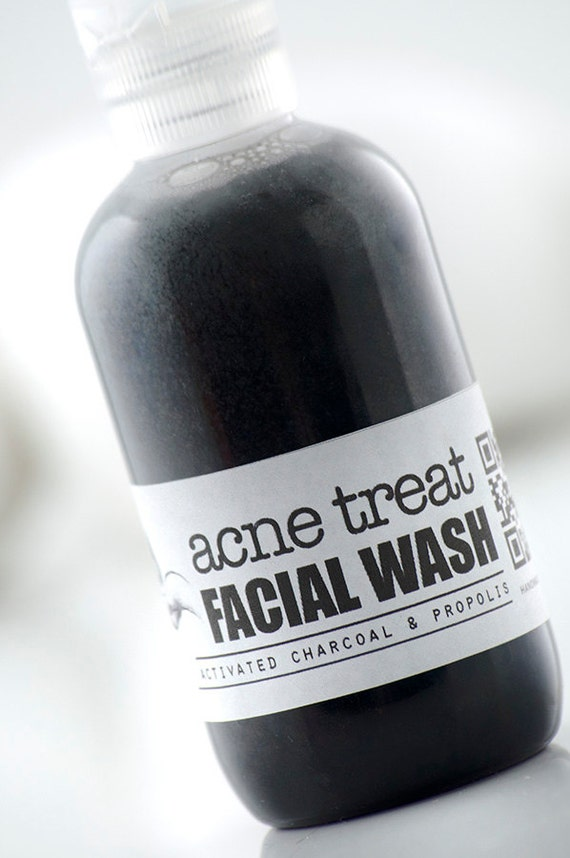 ACNE TREAT Facial Wash • with Activated Charcoal & Propolis • Formulated for effective Anti Acne treatment.