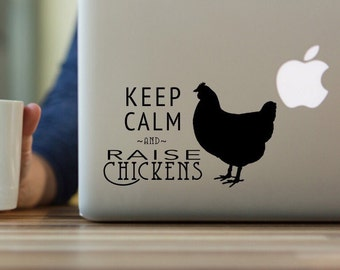 Chickens Decal, Chicken Farm Decal, Chicken Decor, Keep Calm and Raise Chickens,