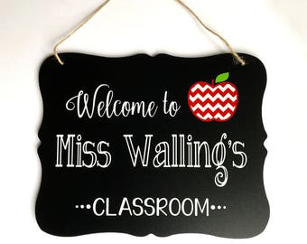 Teacher Sign, Teacher Appreciation Gift, Gift for Teachers, Teacher Name Sign, Personalized Teacher Gift, Teacher Gift, First Day of School