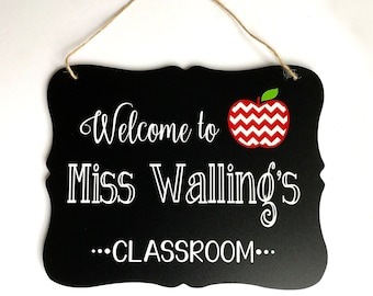 Teacher Sign, Teacher Gift, Gift for Teachers, Teacher Name Sign, Personalized Teacher Gift, Teacher Appreciation Gift, First Day of School