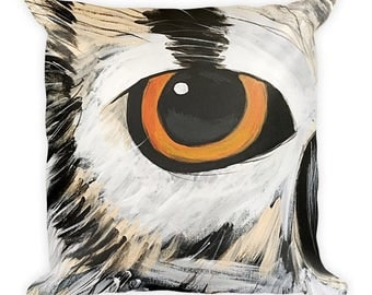 Owl Pillow, Owl Eye Pillow, Decorative Pillow, Home Decor
