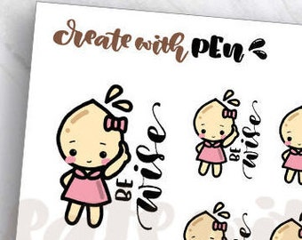 TA80   Tinta   BE WISE   Planner Stickers