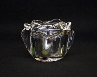 Vintage Adria Crystal Tealight Holder Rose
